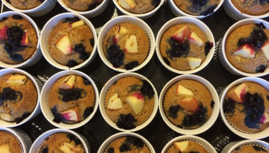 PEARS AND BLUEBERRY MUFFINS