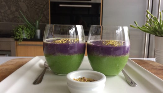 PURPLE AND GREEN SMOOTHIE