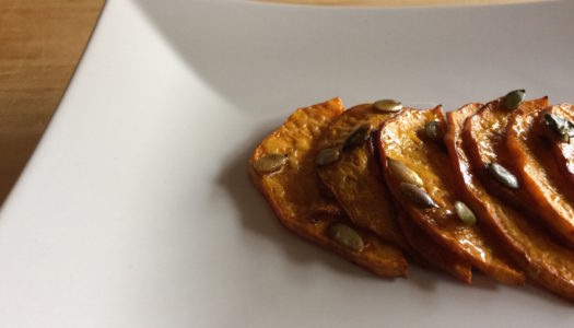 PUMPKIN WITH SOY SAUCE AND TOASTED SEEDS