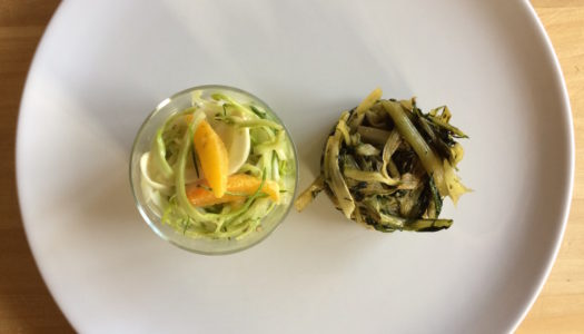 PUNTARELLE SALAD WITH FENNEL AND ORANGE
