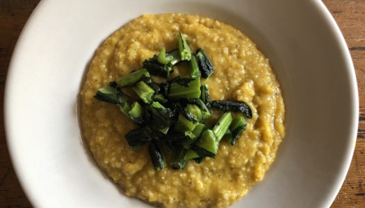 BUTTERNUT SQUASH CREAM WITH MILLET