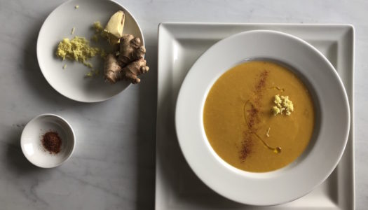 PUMPKIN AND CAULIFLOWER SOUP WITH OAT