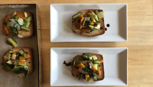 BRUSCHETTA WITH CHICORY AND PUMPKIN