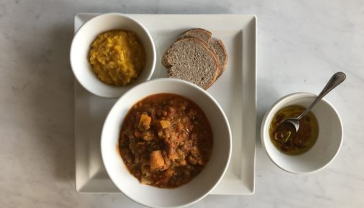 LEGUME AND VEGETABLE HOT SOUP WITH RYE